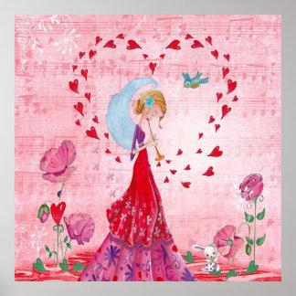 Poster Musique d'amour - affiche