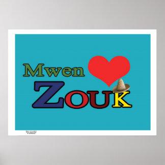Poster :  Mwen enmen ZOUK Posters
