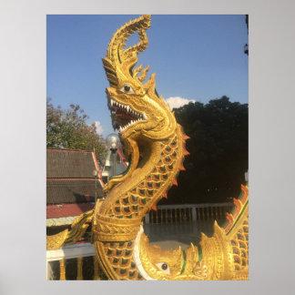 Poster Naga chez Doi Suket, Chiang Mai, Thaïlande