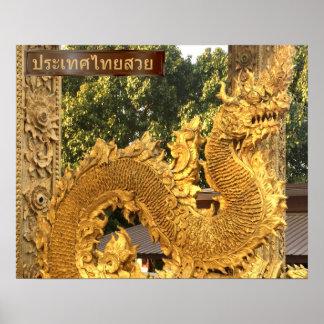 Poster Naga d'or dans Chiang Mai