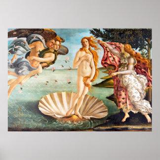 Poster Naissance reconstituée et de Recolored Botticelli