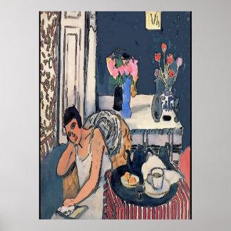 Poster Nancy breakfast avec des Flowersl, Matisse sorte