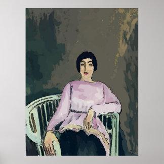 Poster Nancy dans la chaise blanche