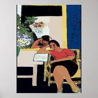Poster Nancy sur la cellule, style de Matisse