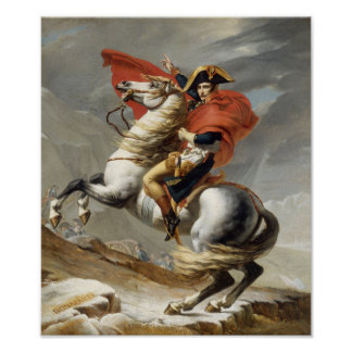 Poster Napoléon croisant les Alpes -- Jacques-Louis David