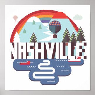 Poster Nashville dans la conception