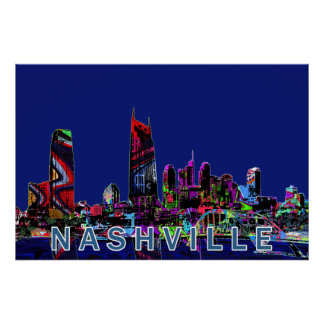 Poster Nashville dans le graffiti