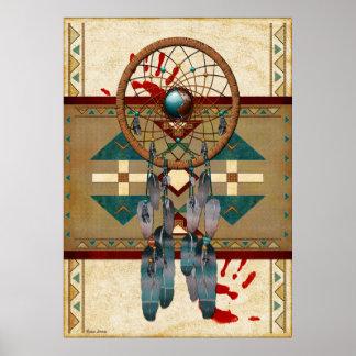 Poster Natif américain contagieux d'esprit