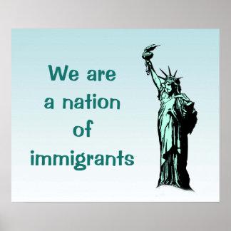 Poster Nation d'affiche de bleu d'immigrés