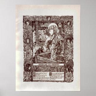 Poster Nativité de Noël de Nouveau d'art (1898)