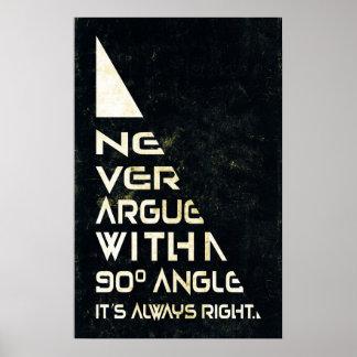 Poster Ne discutez jamais - l'affiche de maths