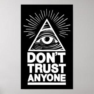 Poster Ne faites pas confiance à n'importe qui