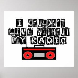 Poster Ne pourrait pas vivre sans ma radio