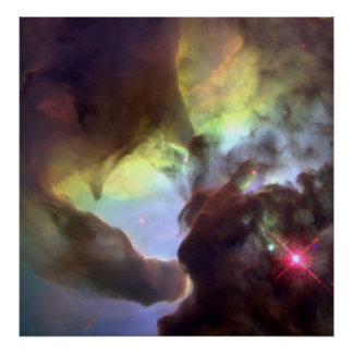 Poster Nébuleuse géante M8 de lagune de tornade