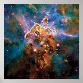 Poster Nébuleuse mystique de Carina de montagne