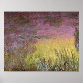 Poster Nénuphars de Claude Monet | au coucher du soleil
