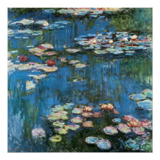 Poster Nénuphars par Claude Monet, impressionisme vintage