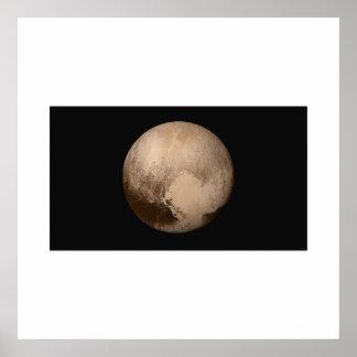 Poster New Horizons - Pluton dans la couleur vraie