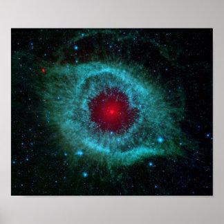 Poster NGC 7293 la NASA de nébuleuse d'hélice