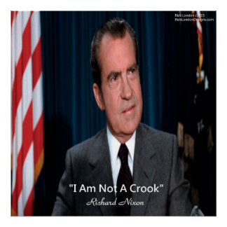Poster Nixon et pas une affiche de citation d'escroc
