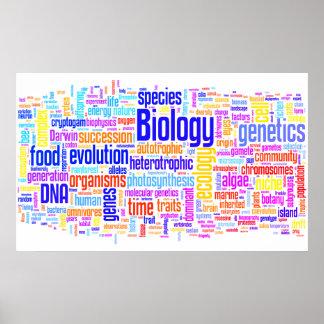 Poster No. 17 de Wordle de biologie