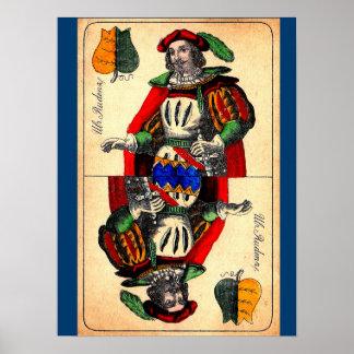 Poster No. du 19ème siècle 1 de carte de tarot