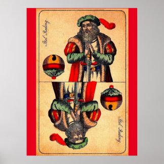 Poster No. du 19ème siècle 2 de carte de tarot