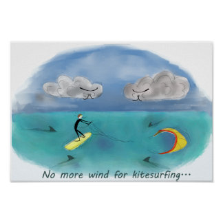 Poster No more wind for kitesurfing