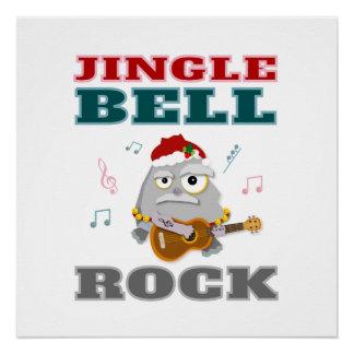Poster Noël coloré de roche de Jingle Bell
