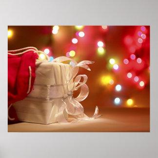 Poster Noël enveloppé par blanc