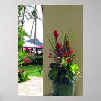 Poster Noël hawaïen
