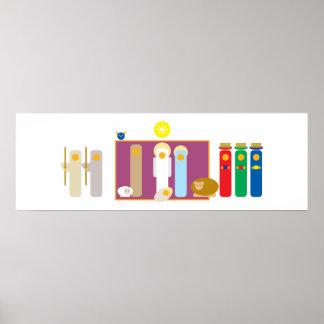 Poster Noël minimaliste moderne de garderie de nativité