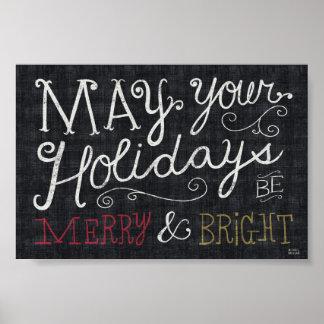 Poster Noël original joyeux et lumineux