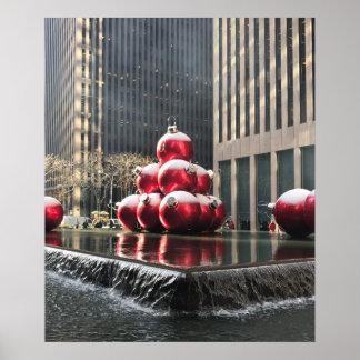 Poster Noël Rockefeller NYC central de New York City