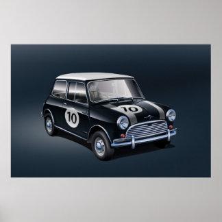 Poster Noir d'affiche de Mini Cooper S