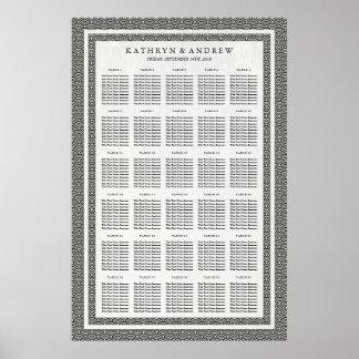 Poster Noir+Diagramme blanc d'allocation des places de