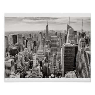 Poster Noir et blanc de New York City