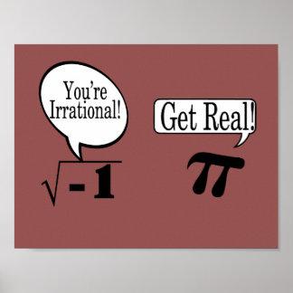 Poster Nombres affiche-irrationnels et vrais de maths