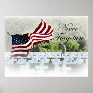 Poster Non jamais oublié - Jour du Souvenir