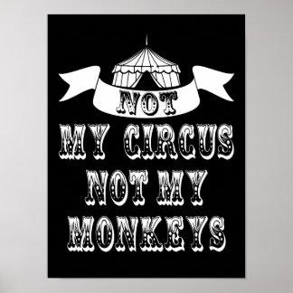 Poster Non mon cirque