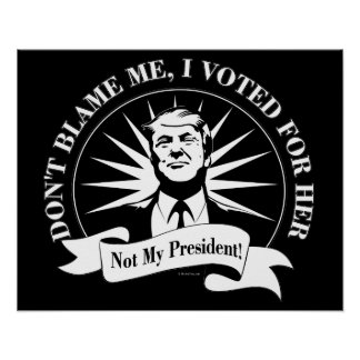 Poster Non mon président !