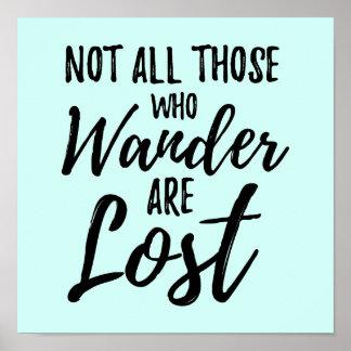 Poster Non tout ceux que Wander sont perdu