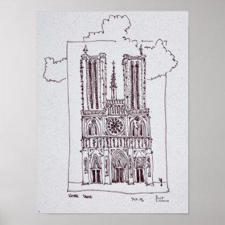 Poster Notre-Dame de Paris | Ille de la Cite de