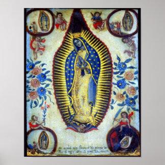 Poster Notre Madame de Guadalupe et d'affiche