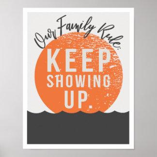 """Poster Notre règle 11"""" de famille"""" copie de l'art x14"""