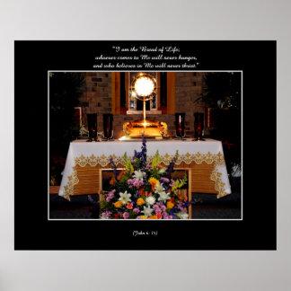 Poster Notre seigneur eucharistique dans le Monstrance