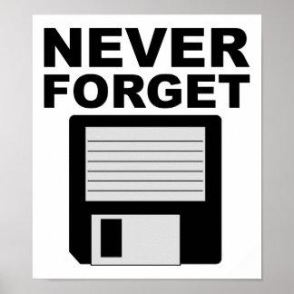 Poster N'oubliez jamais l'affiche drôle à disque souple