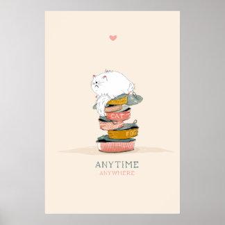 Poster Nourriture d'amour de chat
