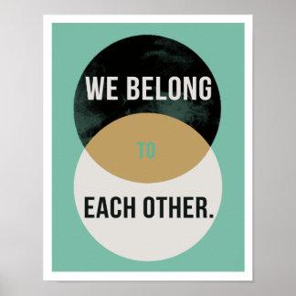 """Poster Nous appartenons entre eux 11"""""""" la copie II de"""