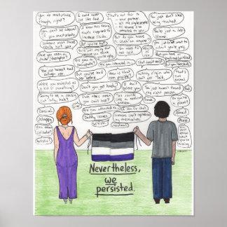 Poster Nous avons persisté 11x14 (asexuel)